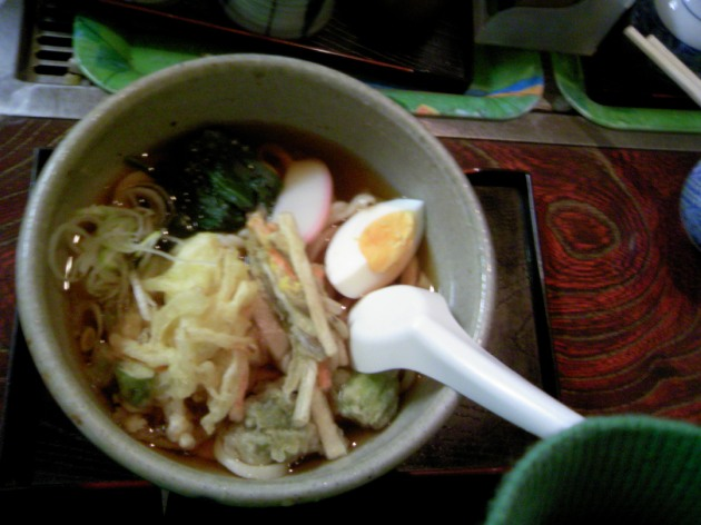 tempura udon (with fuki no to)
