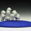 bunch. porcelain, flocking, brazing rod, adhesive. 8.5 in. x 8 in. x 4 in. 2011.