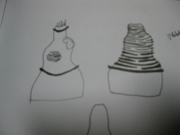 drawing for new sculptures