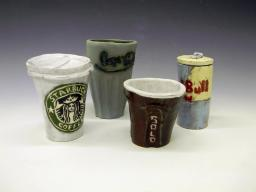 Class: Ceramics for Non-art Majors. Project: Contemporary Cup Sets