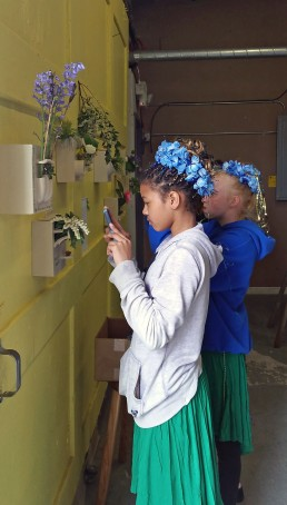wildflowers Flower Bricks in situ at Arbutus Folk School on the occasion of Spring Arts Walk 2016